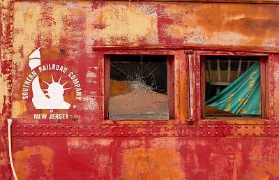 Old Caboose Photograph - Southern Railroad Company Of New Jersey by Kristia Adams