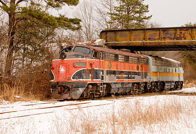 Photograph - Southern Railroad Of New Jersey Locomotive by Kristia Adams