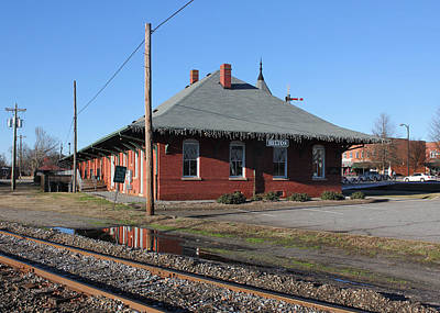 Photograph - Southern Railway And Blue Ridge Railway Combined Depot by Joseph C Hinson Photography