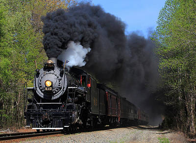 Southern Railway Steam Engine #630 Art Print
