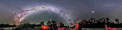 Observer Photograph - Southern Sky Panorama 2 Rectangular by Alan Dyer