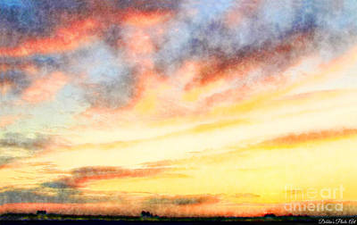 Photograph - Southern Sunset - Digital Paint Iv by Debbie Portwood
