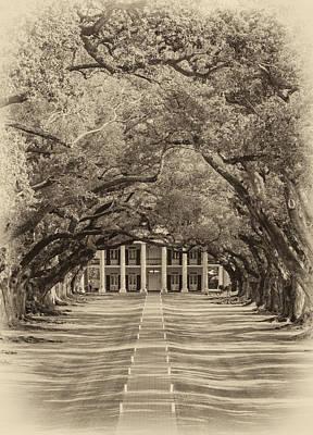 Southern Time Travel Sepia Print by Steve Harrington