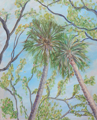 Painting - Southern Trees by Patty Weeks