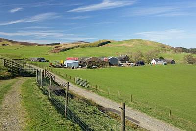 Upland Photograph - Southern Uplands Farm by Ashley Cooper