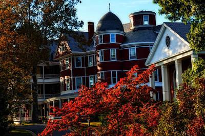 Photograph - Southern Virginia University Framed By Fall by Cathy Shiflett
