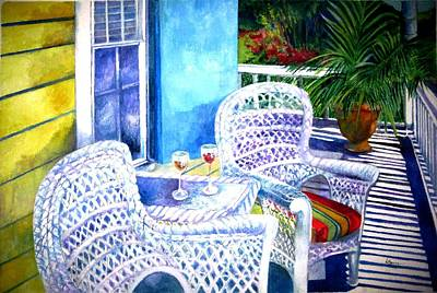 Guesthouse Painting - Southernmost Happy Hour by Kandy Cross