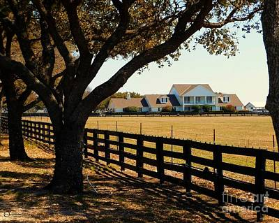 Southfork Ranch - Across The Pasture Art Print