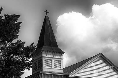 Photograph - Southport Church Tower Mono by John Rizzuto