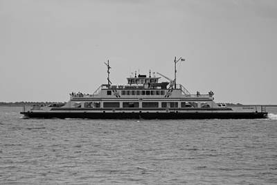 Artist Working Photograph - Southport / Fort Fisher Ferry by Charlotte NC Artist Phil Robinson
