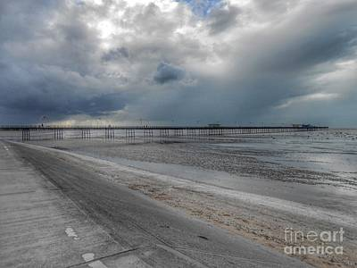 Photograph - Southport Pier Across The Beach by Joan-Violet Stretch