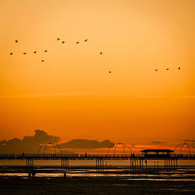 Photograph - Southport Pier At Sunset by Neil Alexander