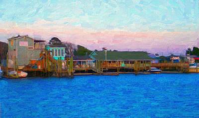 Impasto Digital Art - Southport Seafood by Garland Johnson