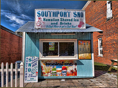 Slushy Photograph - Southport Sno by Don Margulis