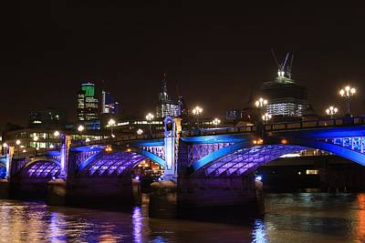 Southwark Bridge Print by Ash Sharesomephotos