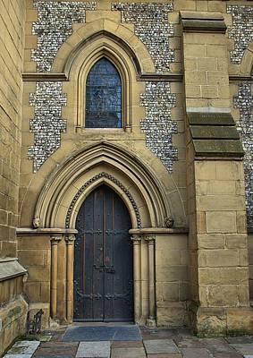 Photograph - Southwark Cathedral Door by Steven Richman