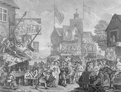 People Drawing - Southwark Fair by William Hogarth