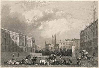 Harvard Drawing - Southwark With Harvard Chapel by Mary Evans Picture Library