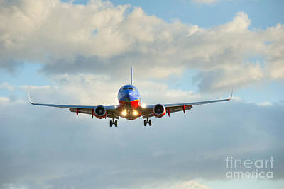 Southwest Airline Landing Gear Down Art Print