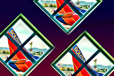 Photograph - Southwest Airlines by Maria Coulson