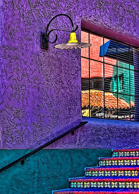 Photograph - Window Colors by Maria Coulson