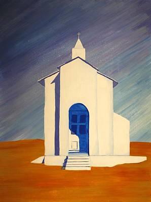 Southwest Contemporary Art - Desert Solitude Art Print by Karyn Robinson