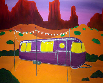 Trailer Painting - Southwest Contemporary Art - Sedona Twilight by Karyn Robinson