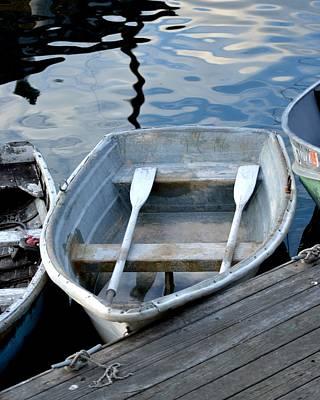 Rowboat Digital Art - Southwest Harbor Rowboat by Toby McGuire