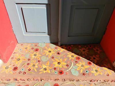Sunlit Door Photograph - Southwest Mosaic Doorway by Karyn Robinson
