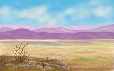Twiggy Digital Art - Southwest Panorama by Ellie Taylor