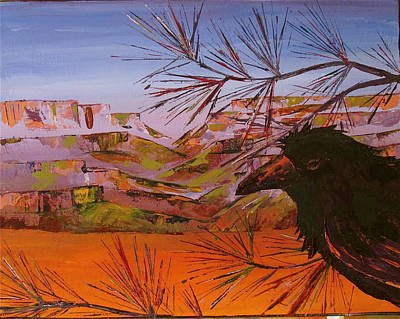 Painting - Southwest Raven by Carolyn Doe