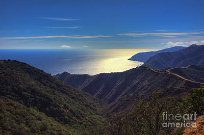 Landscape. Mountain Trees Water Bush Photograph - Southwest View Of Catalina Island by Eddie Yerkish