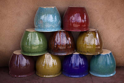 Planter Wall Art - Photograph - Southwestern Ceramic Pots by Carol Leigh
