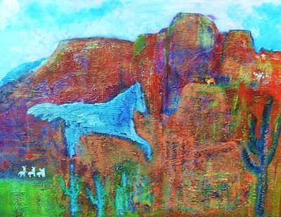 Southwestern Dreamscape  Art Print by Anne-Elizabeth Whiteway