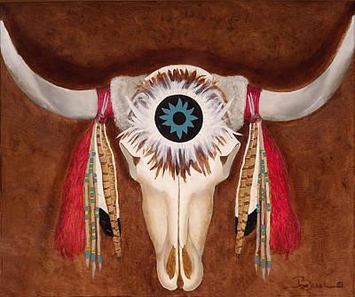 Painting - Southwestern Figurehead  by Joyce Blank