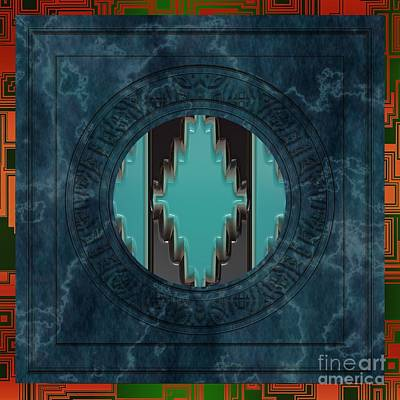 Cabochon Digital Art - Southwestern Native American Mandala by Liane Wright