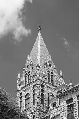 Photograph - Southwestern University Cullen Building Tower by University Icons