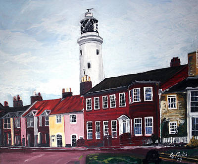 Southwold Painting - Southwold Lighthouse by Gordon Powles