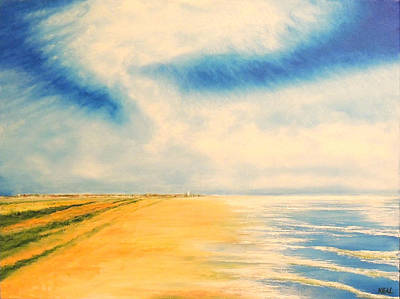 Southwold Painting - Southwold South Beach by Vaughan Keal