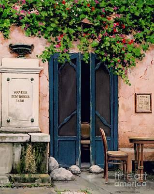 Provence Village Painting - Souvenir De Mr. Rhodes by Michael Swanson