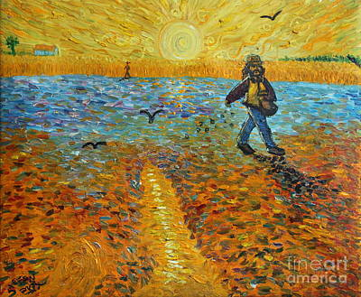 Landscape Painting - Sower Of Squiggles by Stefan Duncan