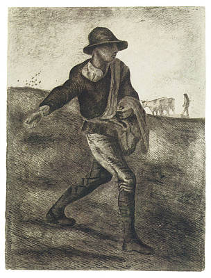 Sowing Painting - Sower by Vincent van Gogh
