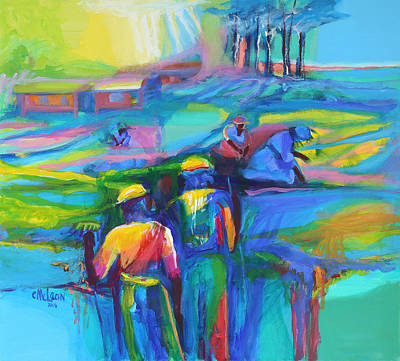 Sowing Painting - Sowing The Seeds by Cynthia McLean