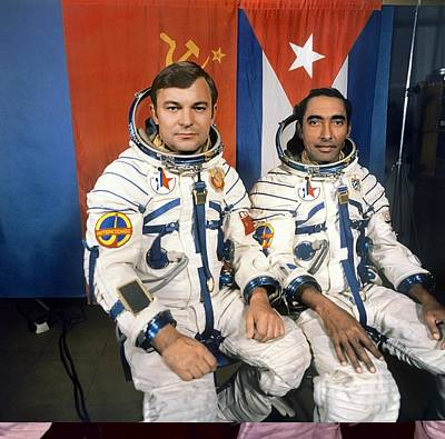 Astronauts Photograph - Soyuz 38 Cosmonauts by Science Photo Library