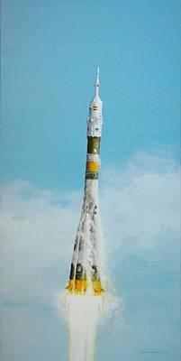 Soyuz Express Art Print