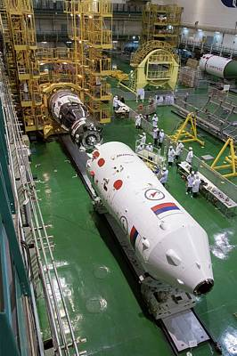 Soyuz Rocket Preparation Print by Nasa/victor Zelentsov