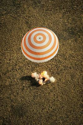 Pavel Photograph - Soyuz Spacecraft Landing by Nasa