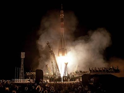 Rocket Science Photograph - Soyuz Tma-09m Launch by Nasa/bill Ingalls