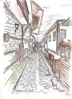 House Mixed Media - Sozopol- Old Town by Ania Kaka