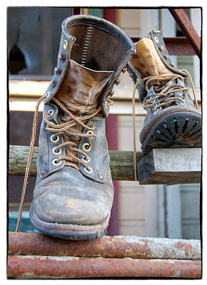 Photograph - Sp Boots by Mary Jane Utley